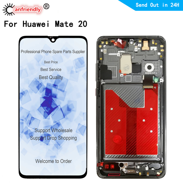 6,53 LCD Für Huawei Mate20 Mate 20 HMA L09 L29 AL00 TL00 LCD Display Touch panel Bildschirm sensor Digitizer mit rahmen Montage