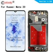 6.53 LCD עבור Huawei Mate Mate20 20 HMA L09 L29 AL00 TL00 LCD תצוגת לוח מגע מסך חיישן Digitizer עם מסגרת הרכבה