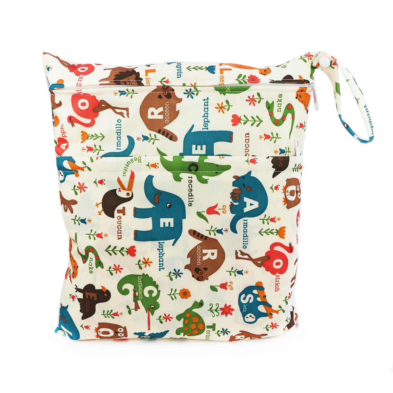Cute Printed Double Zipper Waterproof Diaper Bag Waterproof TPU Material