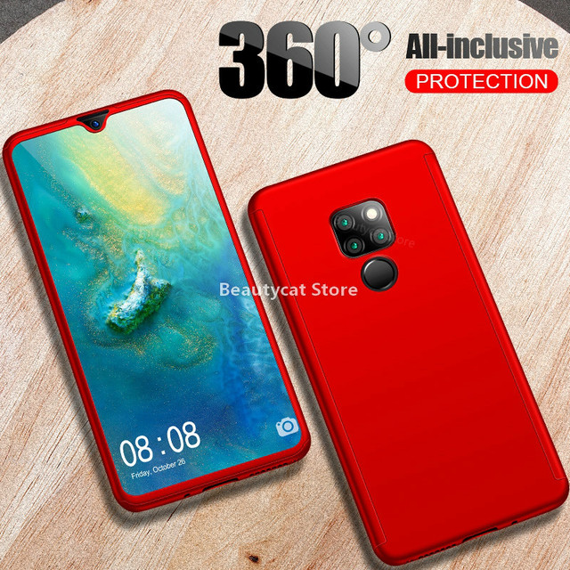 Luxury 360 Full Cover Glass Case For Huawei P30 P20 Mate20 Lite P Smart Y7 Y6