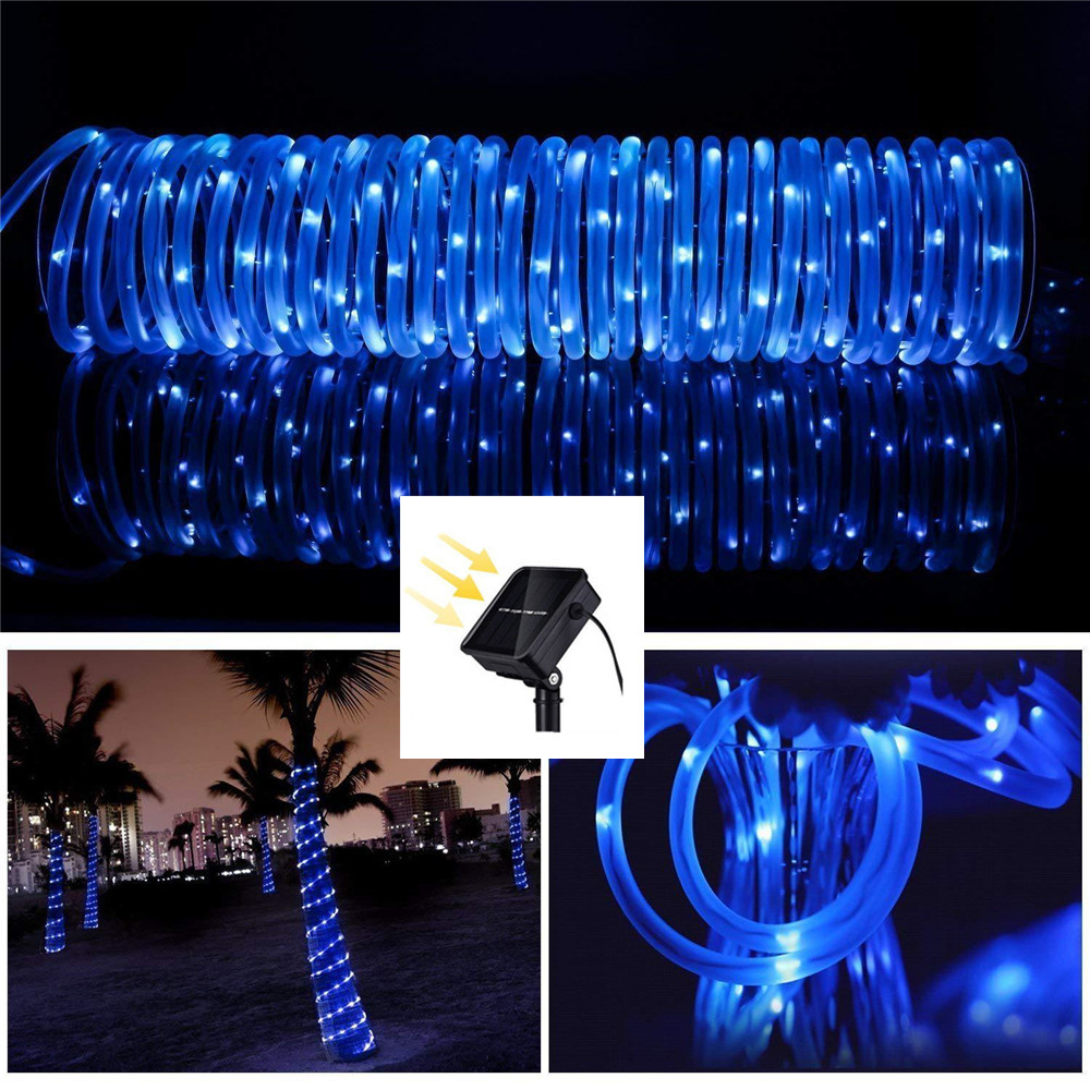 Big Sale Hose 100 200 LED Garden Solar Garland Lighting Waterproof LED String Fairy Light Outdoor Christmas Party Wedding Tree