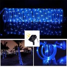 Grande venda mangueira 100/200 led jardim solar guirlanda iluminação à prova dwaterproof água led string fada luz ao ar livre festa de natal árvore casamento