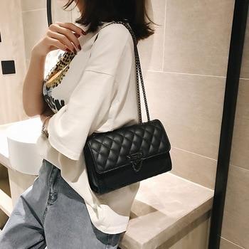 Women's Shoulder Bag Chic Wallet Handbag Women's Handbag Women's Flip Chain Chain British Style Solid Color Shoulder Bag Handbag фото