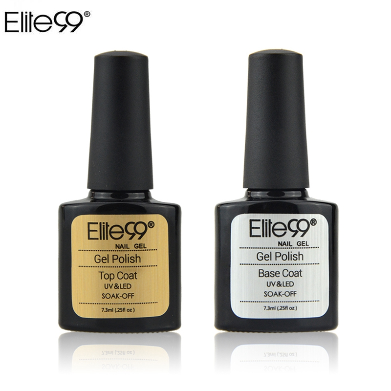 Elite99 7.3ml UV Nail Gel Polish Top Coat For UV Gel Nail Art Design Shiny Top Coat Use With Nail Primer Base Coat LED Lamp Need
