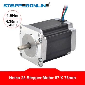Nema 23 Stepper Motor 1.9Nm 2.8A 57x76mm Stepper Nema23 Motor 6.35mm Shaft 4-lead for 3D Printer/ CNC Router 5 1 10 1 nema23 gear stepper motor 112 mm motor body length nema 23 gearbox stepper