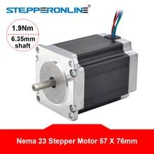 цена на Nema 23 Stepper Motor 1.9Nm(269oz.in) 2.8A 57x76mm Stepper Nema23 Motor 6.35mm Shaft 4-lead for 3D Printer/ CNC Router