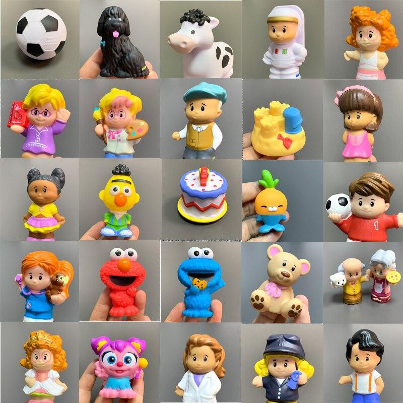 Bixe fisher pouco 2 polegada mini pessoas fazenda animal dos desenhos animados figuras de ação brinquedos presente natal para crianças