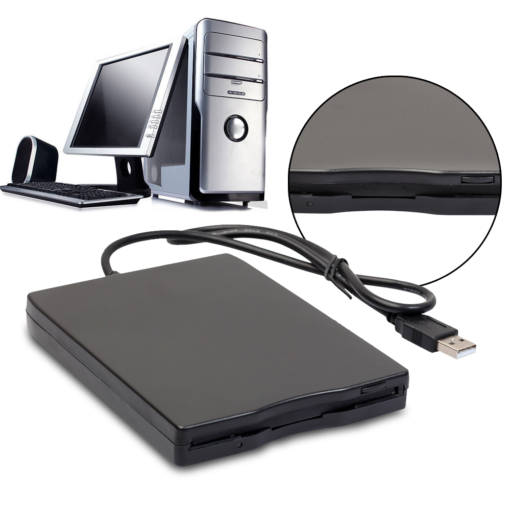 USB Portable Diskette Drive 1.44Mb 3.5inch 12 Mbps USB External Portable Floppy Disk Drive Diskette FDD for Laptop