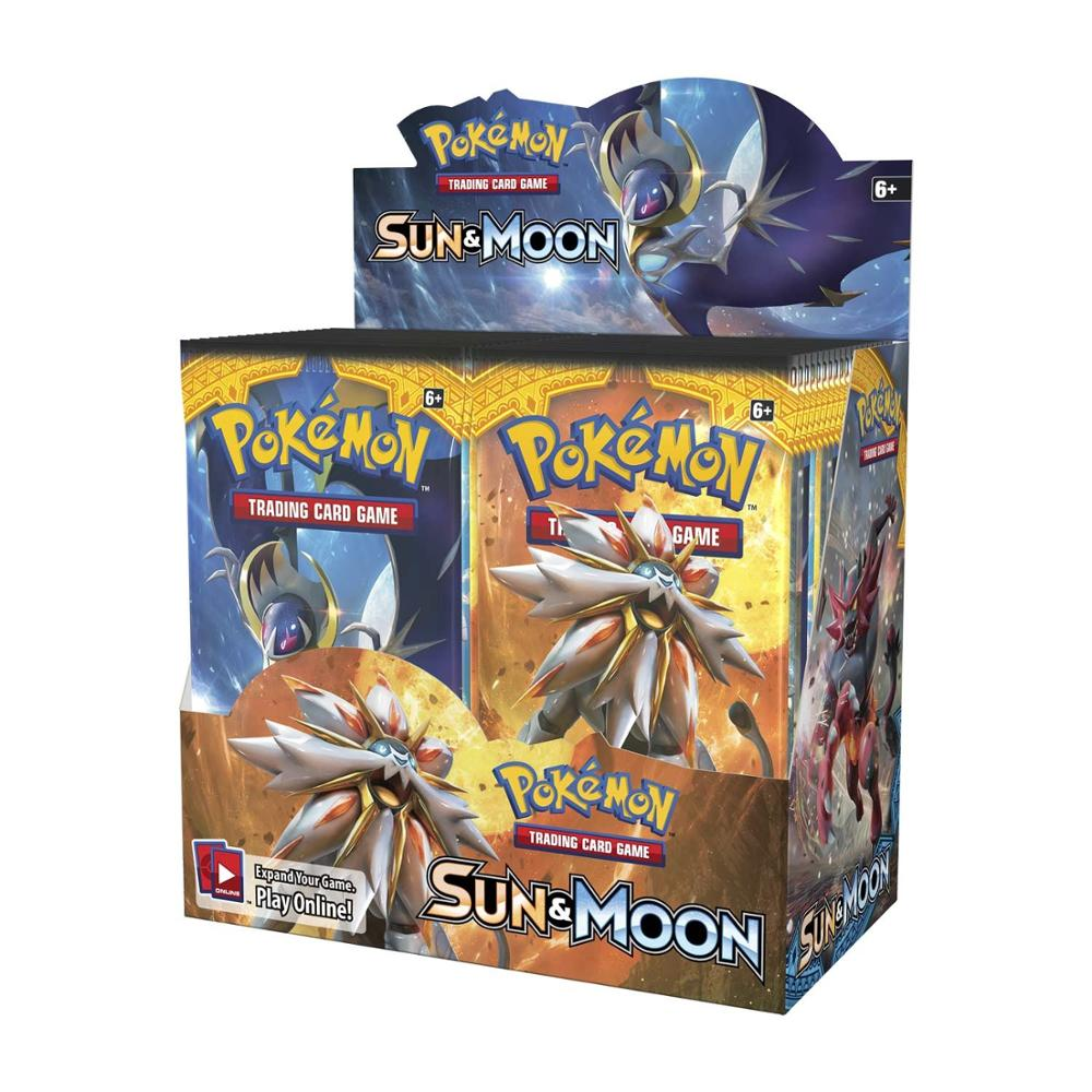 324Pcs/set Pokemon Cards TCG: Sun & Moon Booster Box Trading Card Game Carte Toy