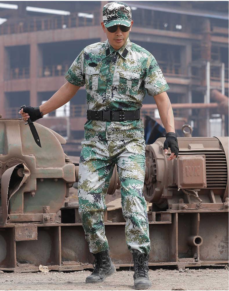 3 kleuren Zomer Militaire Uniform Blue Sea Camouflage Korte Combat Shirt Leger Kleding Tactische Vissen Jacht Kleding Mannen Vrouwen
