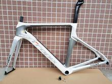 Last new Tropix full carbon fiber DI2 road bike frameset carbon fork seatpost surper-light bicycle frame BB86 52CM bicycle parts special offer fcfb fw road bike complete full carbon fiber used full carbon road handlebar srem leader photo frame