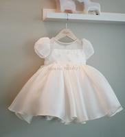 Girl's Clother Children's Graduation Revelry Luxurious Dress Beading Formal Dresses Satin Material Newborn Baptism Dress