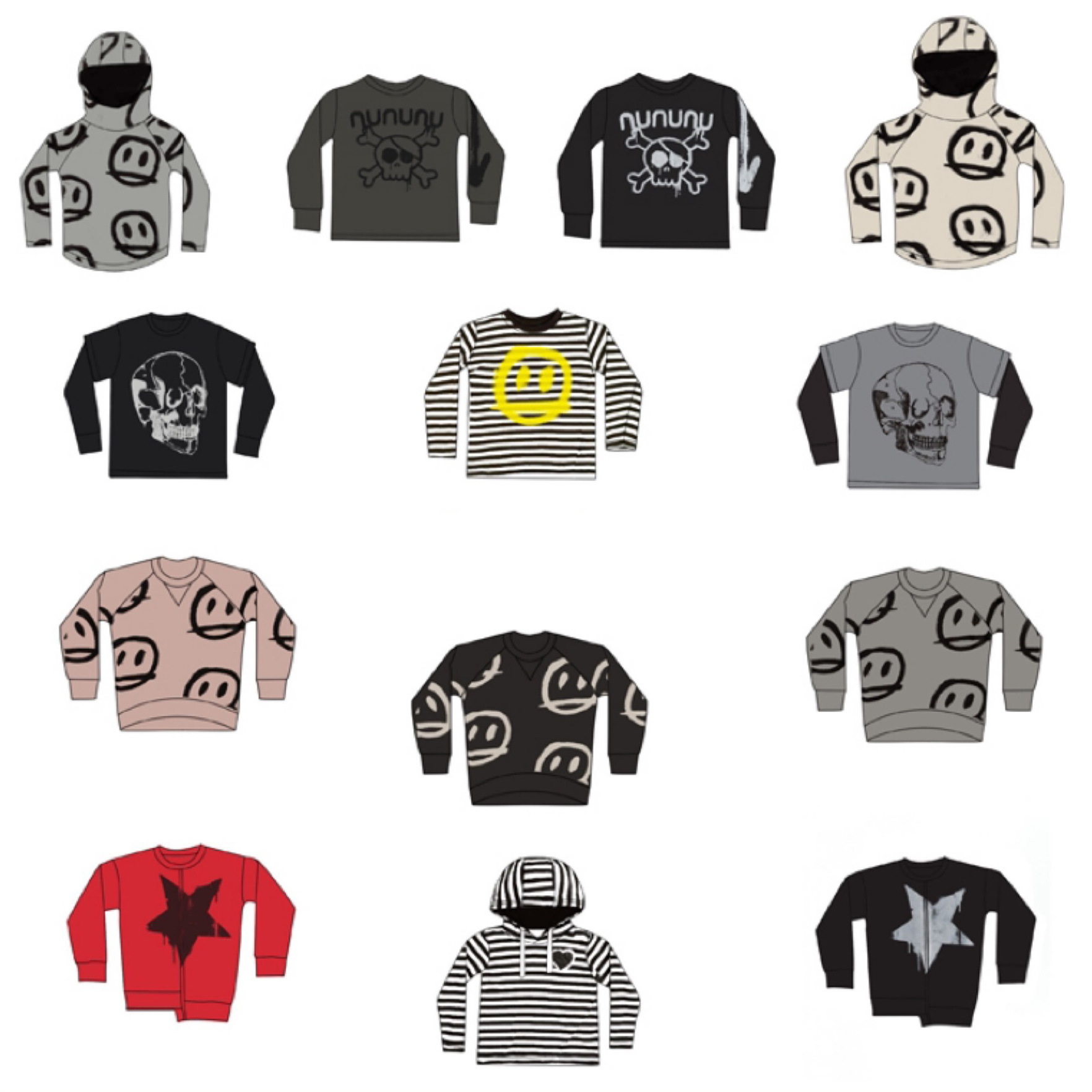 Kids T Shirts 2021 New Spring Summer NX Brand Design Boys Girls Skull Print Long Sleeve Top Baby Children Cotton Fashion Clothes 1