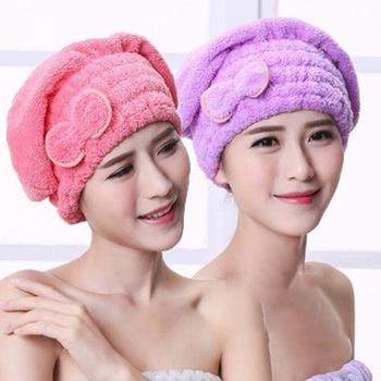 Cartoon Microfiber Hair Turban Quickly Dry Hair Hat Wrapped Towel Bathing Cap Super Absorbent Soft Shower Quick Dry Hair Cap double layer colorful shower cap wrapped towels microfiber bathroom hats solid superfine quickly dry hair hat bath accessories