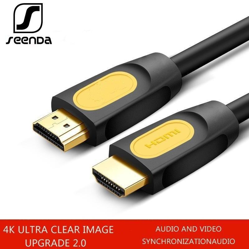 SeenDa Hdmi câble haut clair 2.0 24k plaqué or télévision décodeur moniteur connexion ligne Hdmi séparateur ligne 0.5m 1m 1.5m