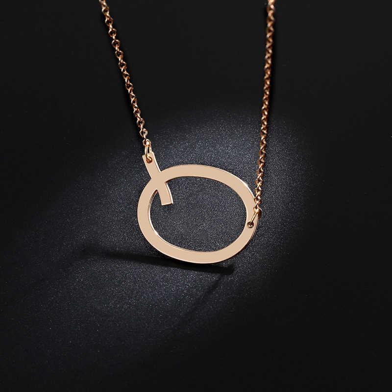 Moda colar de metal carta dourada boemia simples diy romântico retro mulher colar para o inverno jóias presente frete grátis