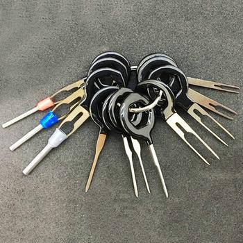 18 sztuk 11 sztuk samochodów zacisk kablowy narzędzie do usuwania elektryczne samochodu złącze zaciskane ściągacz sworznia wtyczka samochodowa narzędzie do zbierania tanie i dobre opinie Ze stopu miedzi