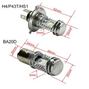 Image 5 - CNSUNNYLIGHT 1pcs 1080LM 슈퍼 밝은 H4 모토 LED 헤드 라이트 키트 P43t HS1 BA20D H6 오토바이 전조등 스쿠터 변환 전구 12