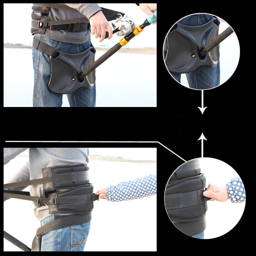 2016 Newest Fishing Harness + Belt Waist Gimbal Fish Rod Holder Fighting Belt Rod Pole Stand fish tackle|Fishing Rods| |  - title=
