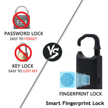 Gaveta/diário-cadeado smart-fingerprint-lock battery-rechargable usb-port small/portátil/keyless eletrônico lock anti-assaltante