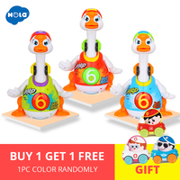 HOLA 828 Baby Toys Electric Hip Pop Dance Read & Tell Story & Interactive Swing Goose Kids Learning Educational Toys Gifts