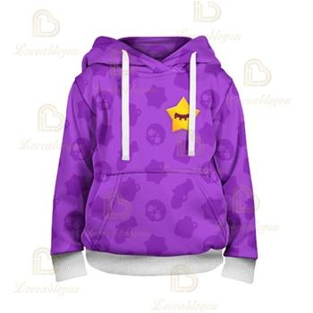 3T to 16T Children's sweatshirt 3D Game Stars Sandy Hoodie 4t to 16t kids