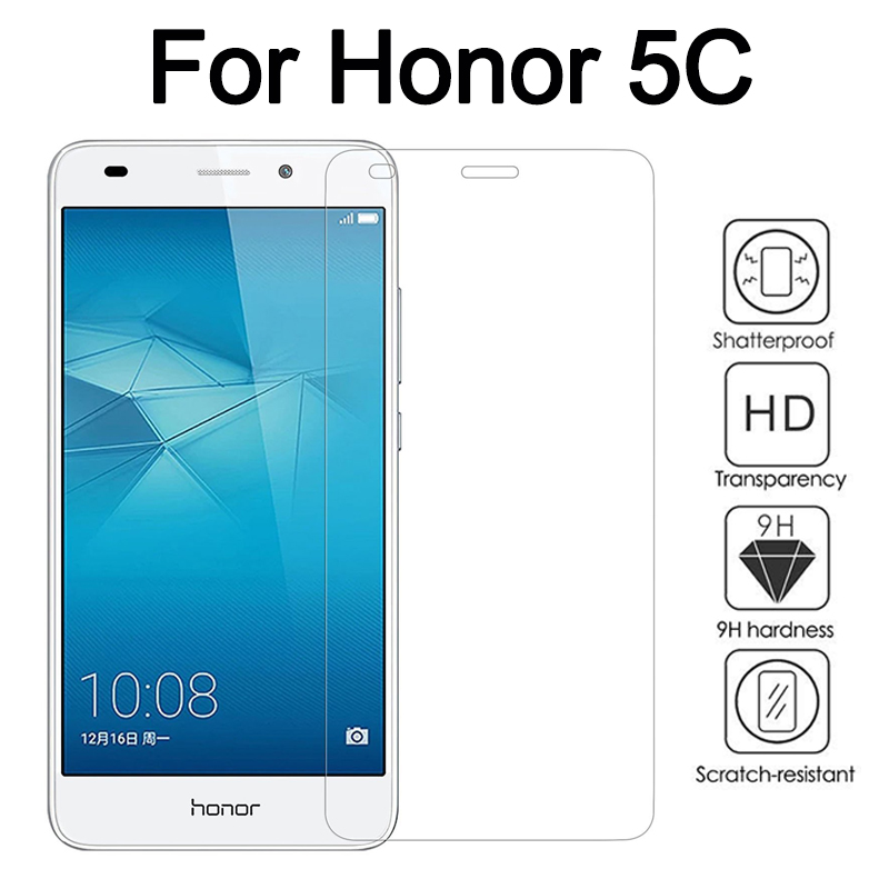 Honor 5c Glass Protective On For Huawei Honor5c 5 C Screen Protector Tempered Glas Safety Armored Huawei5c Huawie Honer C5 Film