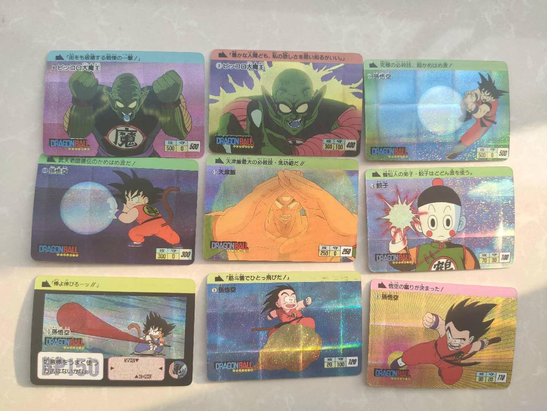 18pcs/set Dragon Ball Z Super Saiyan Goku Cartoon Game Action Toy Figures Commemorative Edition Collection Cards Free Shipping