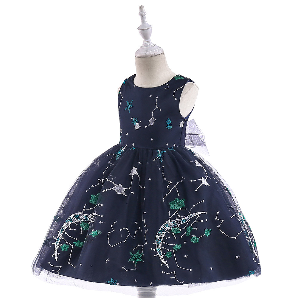 2019 New Style Children Late Formal Dress Boy's Formal Dress Catwalks Host Clothing Europe And America Girls Big Boy Formal Dres