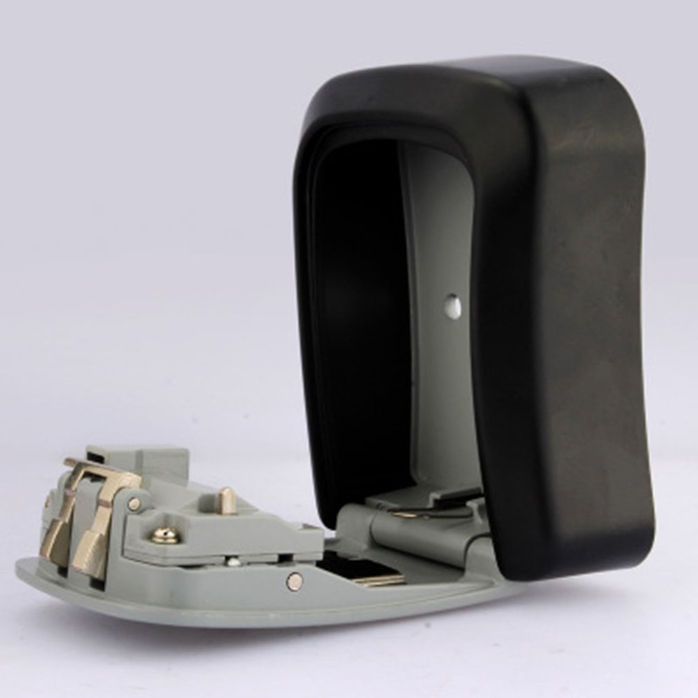 Wall Mounted Key Storage Box 4 Digit Combination Password Spare Keys Organizer Box Metal Security Key Box