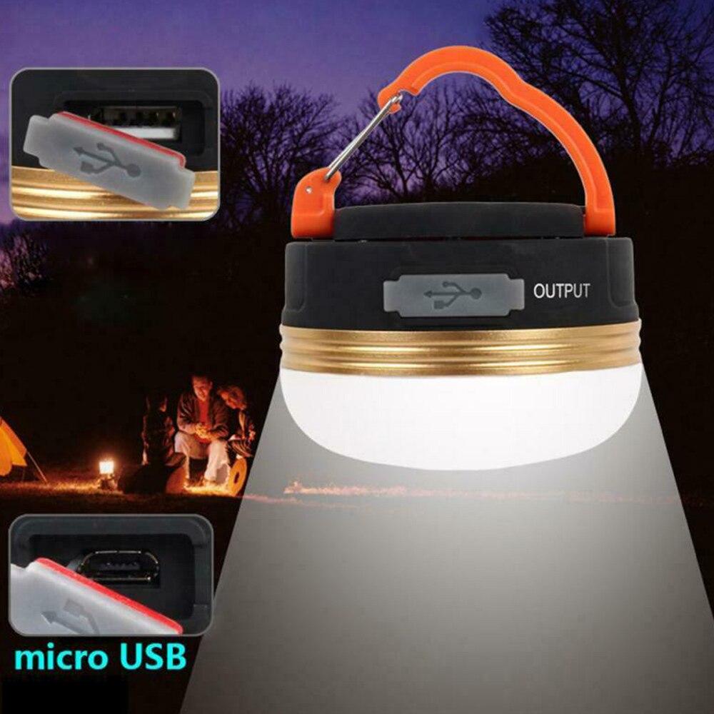 Mini luzes de acampamento led lanterna tendas lâmpada ao ar livre caminhadas noite pendurado usb recarregável
