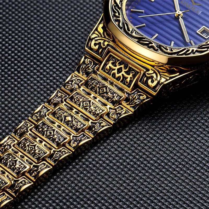 Image 5 - ONOLA designer quartz watch men 2019 unique gift wristwatch  waterproof fashion casual Vintage golden classic luxury watch menQuartz  Watches