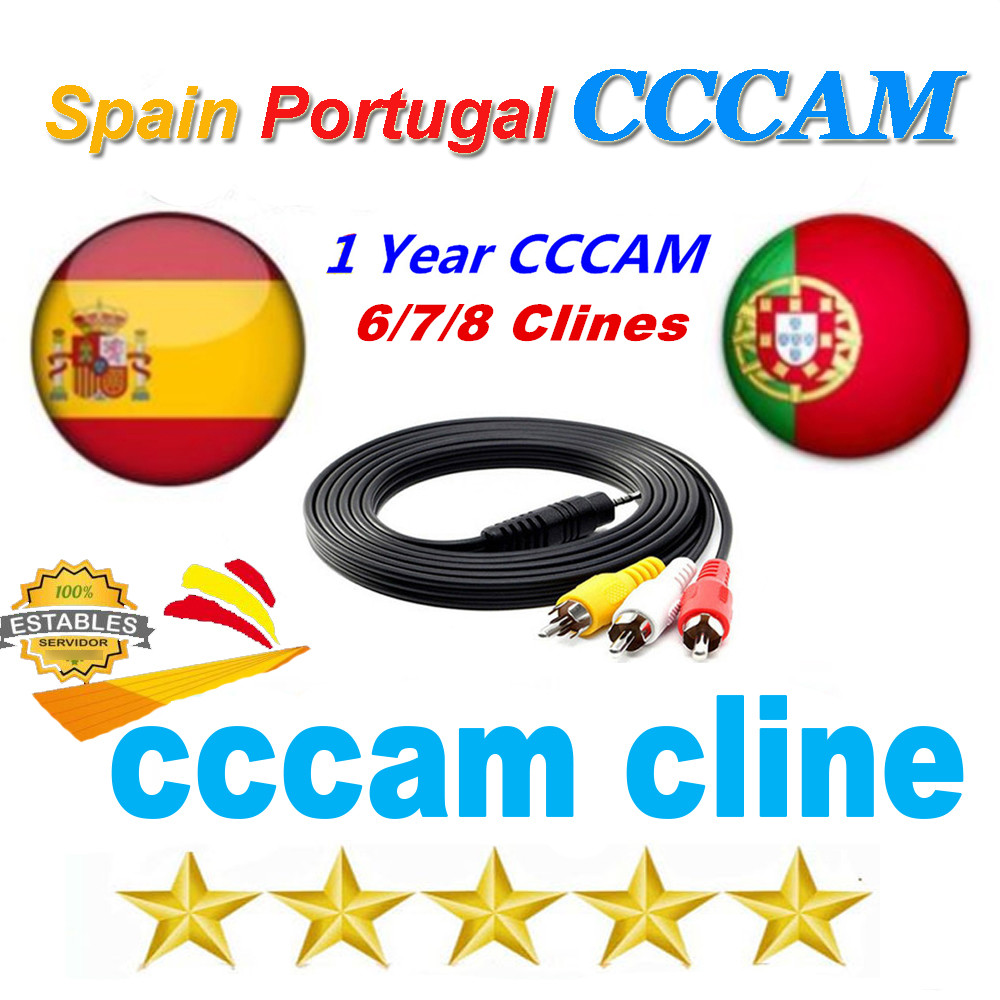Europe Receptor Cccams Lines For 12 Months Spain Portugal Used For DVB-S2 Ccams Satellite Receiver Europe Channels 6/7/8 Lines