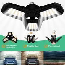 E27 Deformable luz LED para garaje 3000K/6000K Super brillante interior campana montaje alto luz garaje taller almacenes lámpara Industrial