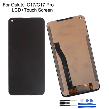 6.35For OUKITEL C17 LCD Display Touch Screen 100% Original Tested LCD Digitizer Glass Panel Replacement For Oukitel C17 Pro LCD new tested lcd display matrix for 7 oysters t7x 3g tablet 1024 600 tft lcd screen panel lens frame replacement free shipping