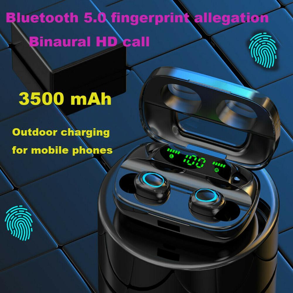 S11 наушники-вкладыши TWS с 3500 мА/ч, Мощность банка спортивные наушники 8D сенсорный светодиодный Bluetooth 5,0 наушники Беспроводной Hi-Fi стерео наушн...