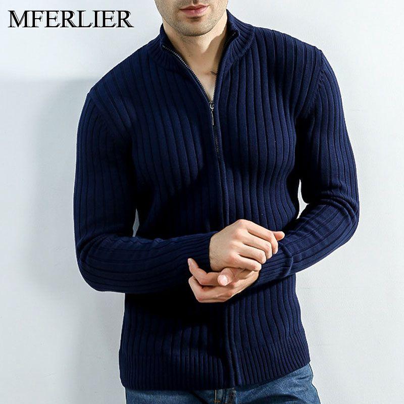 Sweater Men Autumn Winter Warm Long Sleeve Men Sweater 4 Colors