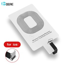 Qi Wireless Charger Receiver Adapter for iPhone 5 5S 5C SE 6S 6 7 Plus Android Micro USB Type-C Phones for Samsung Xiaomi Huawei(China)