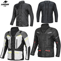 LYSCHY Motorcycle Jacket Waterproof Protective Gear Jacket+Pants Set Hip Protector Riding Suit Motorcycle Pants Moto Jacket 5XL