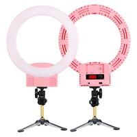 12 Upgrade Ultra thin Dimming LED flash Ring Light Tabletop Tripod US Plug 5800LM SMD2835 Lamp Cellphone Clip Holder