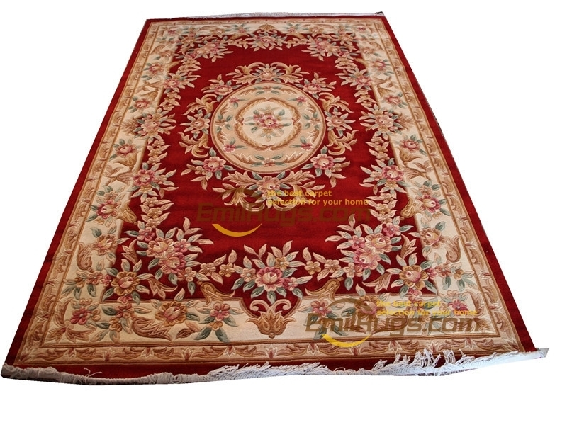 Savonnerie Floral Carpet Roses Design Thick And Plush Woven For Home Decoration Round Luxury Southwestern Style Savonnerie