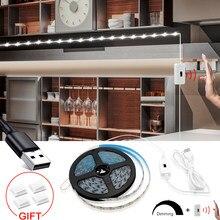 USB Ручной отсканированный светодиодный светильник DC5V 60 Светодиодный s/1 м водонепроницаемый гибкий ручной подметательный светодиодный свет...