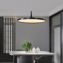 Pendant Hanging Lamp Nordic Modern Black White Minimalism Cord Circle Lights Chandelier 3 Color Dimmable