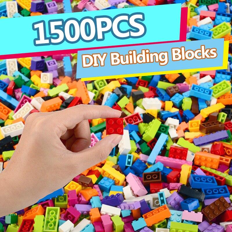1500 pçs blocos de construção conjuntos cidade diy tijolos modelo a granel criativo brinquedo compatível figuras educacional presente aniversário brinquedos para crianças