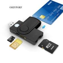 OSEVPORF USB 3.0 2.0 czytnik kart inteligentnych TF pamięć Micro SD ID Bank Emv elektroniczny Dnie Dni Citizen Sim Cloner Adapter złącza