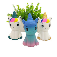 Jumbo Kawaii Colorful Galaxy Unicorn Squishy Doll Slow Rising Stress Relief Squeeze Toys for Baby Kids Xmas Gift 12*6*5CM #S