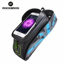 RockBros 5.8 6 MTB Road Bike Bags TOP Front Frame Tube Bicycle Cycling Saddle Bag TPU Touchscreen Accessories