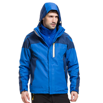 3 in 1 Jacket Men Thermal Waterproof Breathable Warm Jacket Thicken Soft shell Lining Camping Coat hiking jacket