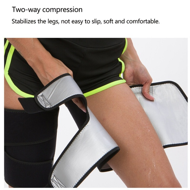 Leg Shaper Sauna Sweat Band Thigh Trimmers Calories Off Anti Cellulite Weight Loss Slimming Legs Fat Compress Belt Sportswear 5