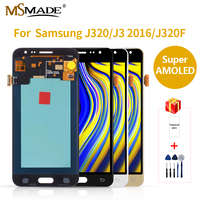 Super AMOLED Samsung Galaxy J3 2016 J320FN J320 J320F LCD Display Touch Screen Digitizer Assembly Replacement Parts 5.0'
